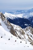 Skiing in Bad Gastein Royalty Free Stock Photography