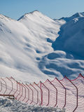 Skiing barriers Royalty Free Stock Images