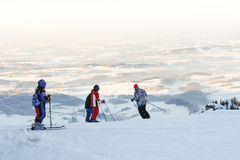 Skiing in the Bavarian Alps II Royalty Free Stock Images