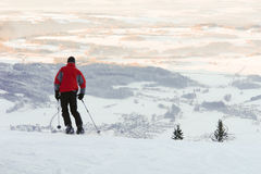 Skiing in the Bavarian Alps Stock Image