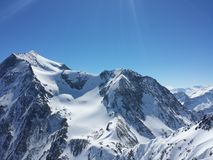 Beautiful French Alps white snow skiing nature enjoy, look March stock photos