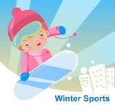 Skiing boy Stock Images