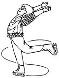 Skiing boy coloring pages Stock Photography