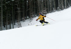 Skiing in Bukovel Royalty Free Stock Photo