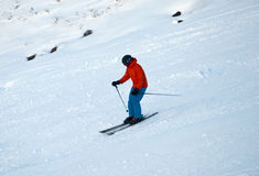 Skiing on CairnGorm Mountain in Scotland Royalty Free Stock Photo