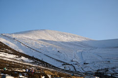 Skiing on CairnGorm Mountain in Scotland Stock Photo
