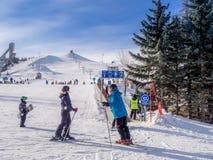 Skiing at Canada Olympic Park Stock Photo