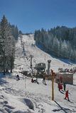 Skiing center Royalty Free Stock Images