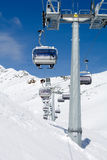 Skiing chair lift Royalty Free Stock Photography