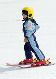 Skiing child Royalty Free Stock Photos
