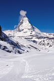 Skiing course at Matterhorn Region Stock Photos