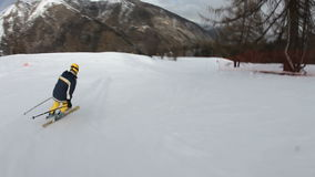 Skiing. With crash at the end