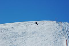 Skiing in the Davos stock photography