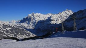 Skiing day in Grindelwald Stock Photography