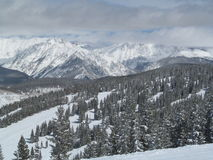 Skiing in December Vail Colorado. Photo was taken in Vail Colorado December 2013 Stock Image