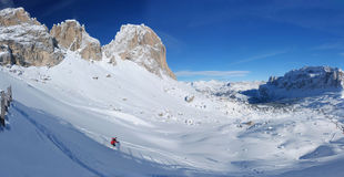 Skiing in the Dolomites Stock Photos