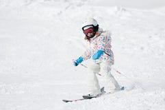 Skiing downhill Royalty Free Stock Image
