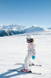 Skiing downhill Stock Image