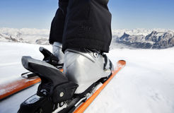 Skiing downhill Stock Photo