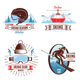 Skiing Emblems And Design Elements Stock Photography