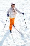 Skiing female Royalty Free Stock Photos