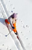 Skiing female Stock Photography