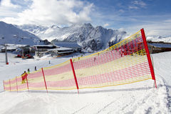 Skiing fence Stock Photo