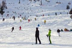Skiing Flachau Stock Photos