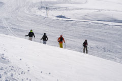 Skiing in France, Europe Stock Photography