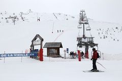 Skiing in France Stock Image