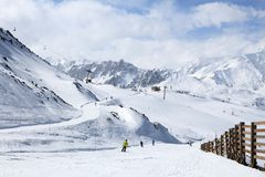 Skiing in France Stock Images