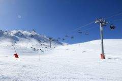 French Alps skiing Stock Photography