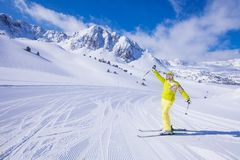 Skiing is so great royalty free stock photos