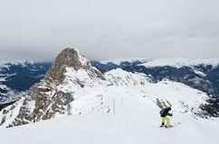 Skiing in Haute savoie, France Stock Photos