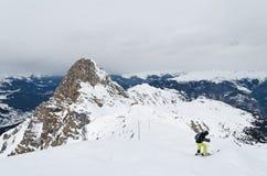 Skiing in Haute savoie, France Stock Photos