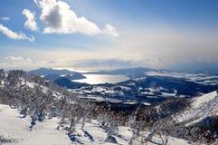 Skiing in Hokkaido, Japan. Skiing in deep powder Hokkaido, Japan stock photography