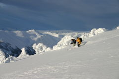 Skiing The Horizon Royalty Free Stock Photo