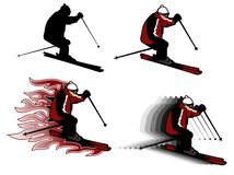 Skiing illustration Stock Image