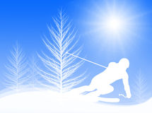 Skiing In The Sun Stock Photography