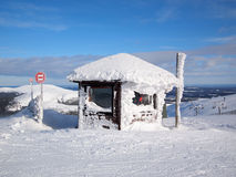 Skiing in Lapland Stock Images