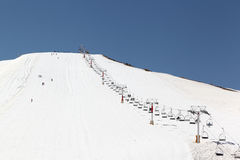 Skiing in Lebanon (Middle East) Royalty Free Stock Image