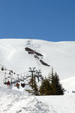 Skiing in Lebanon (Middle East) Royalty Free Stock Photo
