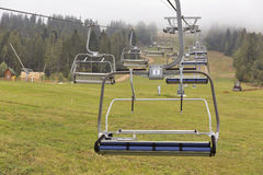 Skiing lift mechanism in the fall Royalty Free Stock Images