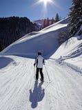 Skiing Man Stock Photo