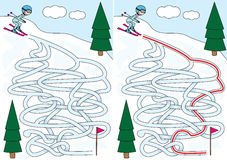 Skiing maze Royalty Free Stock Photography