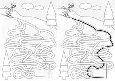 Skiing maze Stock Photography