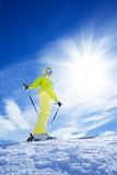 Skiing in mountain is the best vacation Royalty Free Stock Photos