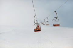 Skiing mountain Royalty Free Stock Image
