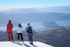 Skiing New Zealand Royalty Free Stock Photos