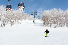 Skiing in Niseko Annupuri , Japan Royalty Free Stock Photos